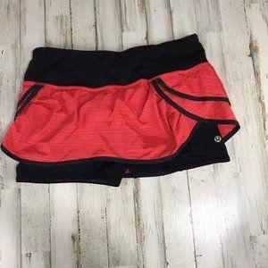 Lululemon Womens Skirt Skort Shorts 6 Black Red